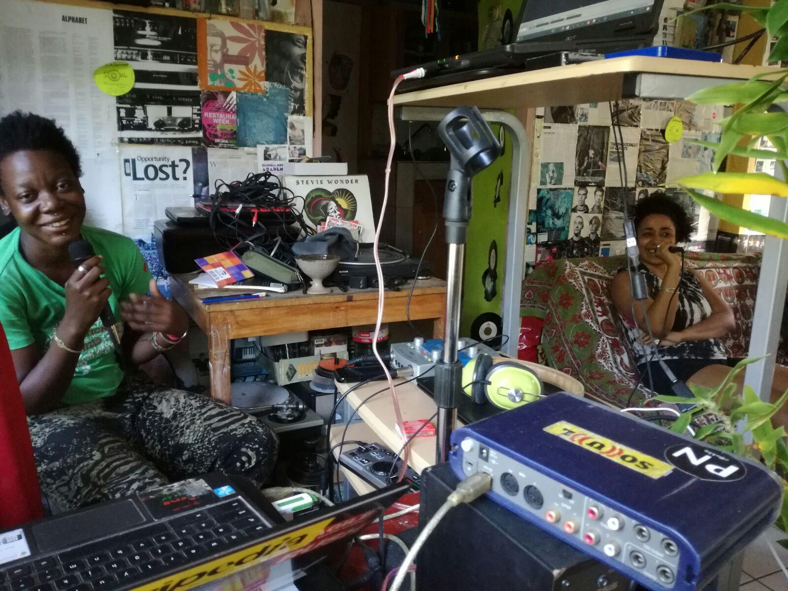 DJ Afifa & Jova conversing about art.
